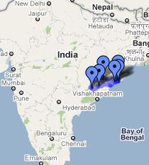 Orissa Tribal Tour Map