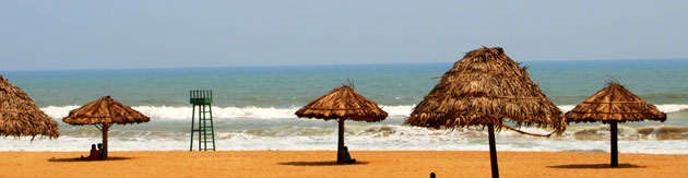 peaceful and less crowded puri beach