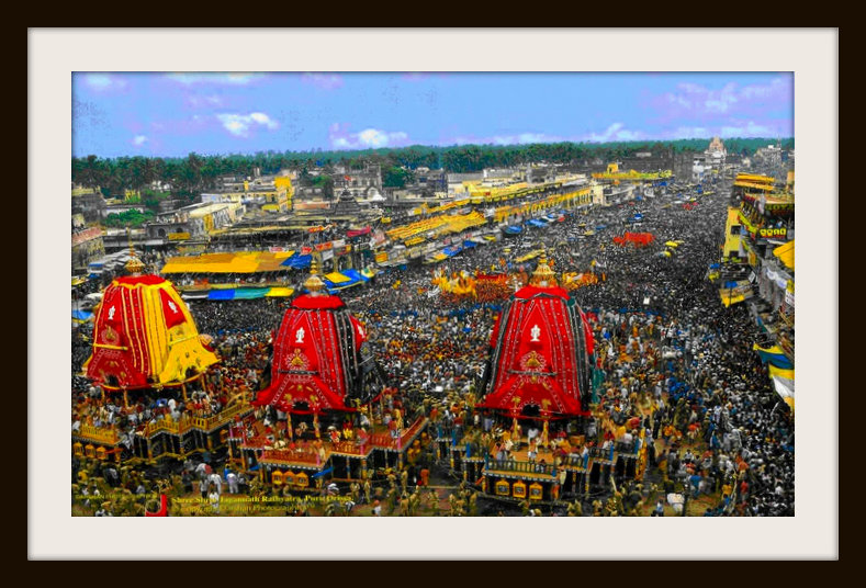 Rathas along with millions of Devotees